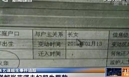 张艺谋超生事件:张艺谋认罚748万