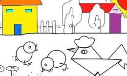 简笔画小鸡的画法(流畅)