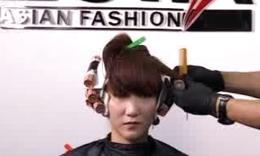 美发步骤 中长发烫发视频 梨花头发型 美发课程图片图片