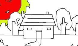 简笔画(小房子)2